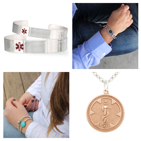 stylish medical alert jewellery by universal medical ID